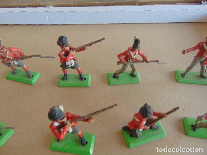 Figuras de Goma y PVC: LOTE DE FIGURAS INDIOS SOLDADOS DE JECSAN REAMSA O MARCAS SIMILARES BRITAINS BASE METALICA - Foto 3 - 92967940