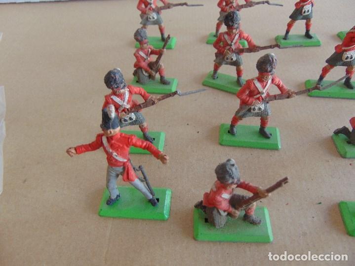 Figuras de Goma y PVC: LOTE DE FIGURAS INDIOS SOLDADOS DE JECSAN REAMSA O MARCAS SIMILARES BRITAINS BASE METALICA - Foto 5 - 92967940