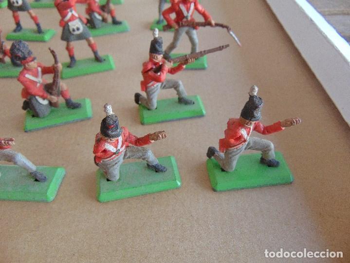 Figuras de Goma y PVC: LOTE DE FIGURAS INDIOS SOLDADOS DE JECSAN REAMSA O MARCAS SIMILARES BRITAINS BASE METALICA - Foto 10 - 92967940