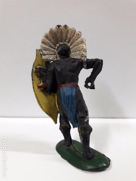 Figuras de Goma y PVC: GUERRERO AFRICANO KAKUANA . REALIZADO POR PECH . AÑOS 50 EN GOMA - Foto 2 - 93199780