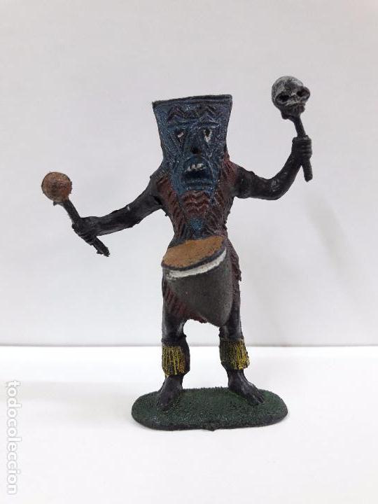 HECHICERO - BRUJO AFRICANO . REALIZADO POR TEIXIDO . AÑOS 60 (Juguetes - Figuras de Goma y Pvc - Teixido)