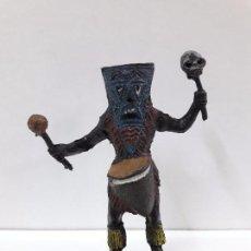 Figuras de Goma y PVC: HECHICERO - BRUJO AFRICANO . REALIZADO POR TEIXIDO . AÑOS 60. Lote 93261115