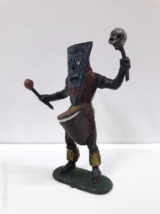 Figuras de Goma y PVC: HECHICERO - BRUJO AFRICANO . REALIZADO POR TEIXIDO . AÑOS 60 - Foto 3 - 93261115