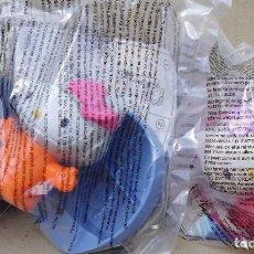 Figuras de Goma y PVC: 2 JUGUETES PROPORCIONALES DE MCDONALDS GATO HELLO KITTY EN SUS BOLSAS SIN ABRIR. Lote 93366250