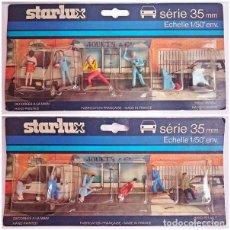 Figuras de Goma y PVC: STARLUX FRANCIA - 2 PACK 6 FIGURAS PINTADAS. Lote 93402570