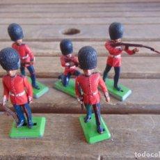Figuras de Goma y PVC: LOTE DE FIGURAS INDIOS SOLDADOS DE JECSAN REAMSA O MARCAS SIMILARES BRITAINS BASE METALICA INGLESES. Lote 93706815