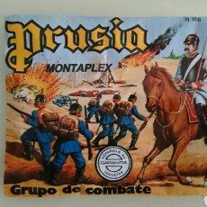 Figuras de Goma y PVC: SOBRE PRUSIA, MONTAPLEX . Lote 93849673