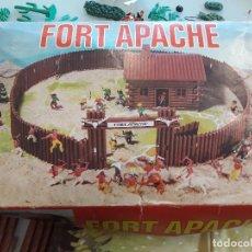 Figuras de Goma y PVC: ANTIGUO JUEGO JUGUETE, FORT APACHE, CON CAJA ORIGINAL, 613A. Lote 94039450