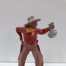 Figuras de Goma y PVC: VAQUERO - COWBOY CON BOLSA DE DINERO . REALIZADO POR LAFREDO . AÑOS 50 EN GOMA. Lote 94129260