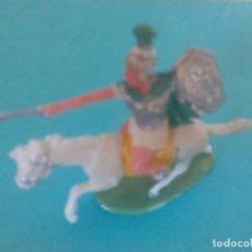 Figuras de Goma y PVC: FIGURA CARTAGINÉS A CABALLO ROJAS Y MALARET. Lote 94323966