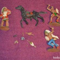 Figuras de Goma y PVC: LOTE LAFREDO ÍNDIOS - AÑOS 60 - SERIE GRANDE - EN PLÁSTICO - MUY ANTIGUOS - VINTAGE - HAZ OFERTA. Lote 94341310