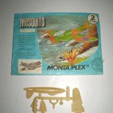 Figuras de Goma y PVC: MONTAPLEX SOBRE Nº 602 VACÍO + COLADA DEL AVIÓN MOSQUITO. Lote 94404754