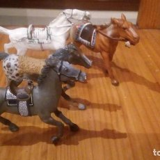 Figuras de Goma y PVC: LOTE 4 CABALLOS DEL OESTE. Lote 94412006