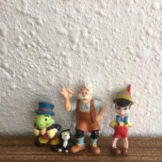 Figuras de Goma y PVC: TRES FIGURAS DE PINOCHO PVC DISNEY. Lote 94484551