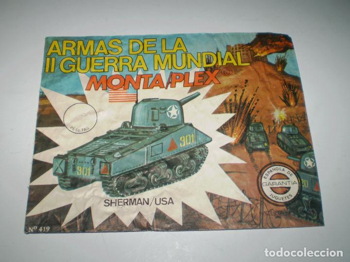 Figuras de Goma y PVC: LOTE MONTAPLEX - TANQUE SHERMAN Nº419 - SOBRE VACÍO + COLADA DEL TANQUE SHERMAN - Foto 3 - 180394878