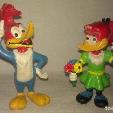 Figuras de Goma y PVC: LOTE DE 2 FIGURAS DE GOMA / PVC WOODY Y WINNIE WOODPECKER DE EL PÁJARO LOCO - COMICS SPAIN AÑOS 80 -. Lote 94526982