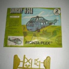 Figuras de Goma y PVC: MONTAPLEX SOBRE Nº 618 VACÍO + COLADA DEL HELICÓPTERO SIKORSKY H34-A. Lote 94861483