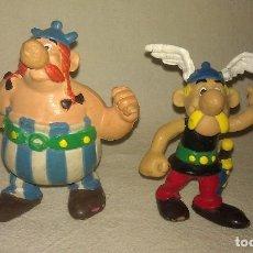 LOTE DE 2 FIGURAS DE GOMA / PVC ASTERIX Y OBELIX ORIGINALES COMICS SPAIN AÑOS 80 - FIGURA ORIGINAL