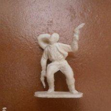 Figuras de Goma y PVC: FIGURA VAQUERO PLASTICO ETC ANTIGUO. Lote 94608347
