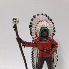Figuras de Goma y PVC: JEFE INDIO . REALIZADO COMANSI . PRIMERA EPOCA. Lote 94679739