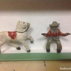 Figuras de Goma y PVC: FIGURA VAQUERO LAFREDO AÑOS 50 - FIGURA GOMA DE LAFREDO. Lote 94761551
