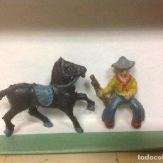 Figuras de Goma y PVC: FIGURA VAQUERO LAFREDO AÑOS 50 - FIGURA GOMA DE LAFREDO. Lote 94761619