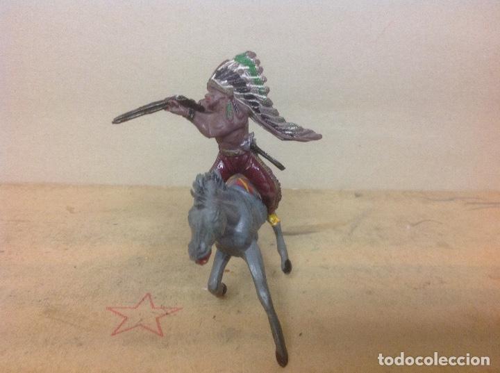 Figuras de Goma y PVC: FIGURA INDIO PECH HERMANOS GOMA - indio goma años 50 hermanos pech - Foto 3 - 94835611