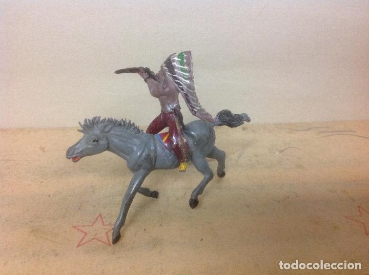 Figuras de Goma y PVC: FIGURA INDIO PECH HERMANOS GOMA - indio goma años 50 hermanos pech - Foto 4 - 94835611