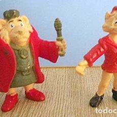 Figuras de Goma y PVC: LOTE 2 MUÑECOS SYLVAN Y REY CARLOS CHARLES FIGURAS GOMA D'OCON FILMS MERCHANDISING DANONE 1994. Lote 94858759