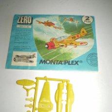 Figuras de Goma y PVC: MONTAPLEX SOBRE Nº 604 VACÍO + COLADA DEL AVIÓN ZERO. Lote 94865791