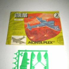 Figuras de Goma y PVC: MONTAPLEX SOBRE Nº 607 VACÍO + COLADA DEL AVIÓN STIRLING. Lote 94865947