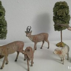 Figuras de Goma y PVC: ELASTOLIN DIORAMA CAZADOR. Lote 94908291