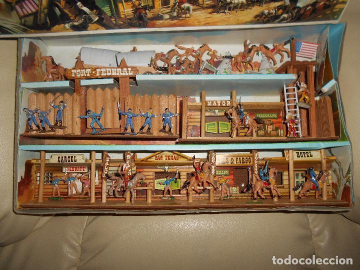 Figuras de Goma y PVC: ESPECTACULAR CAJA MINIOESTE COMANSI TODO EL OESTE AMERICANO AÑO 60 70 CON EXTRAS CASI PERFECTO !!! - Foto 3 - 95158543