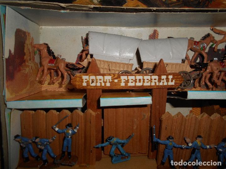 Figuras de Goma y PVC: ESPECTACULAR CAJA MINIOESTE COMANSI TODO EL OESTE AMERICANO AÑO 60 70 CON EXTRAS CASI PERFECTO !!! - Foto 4 - 95158543