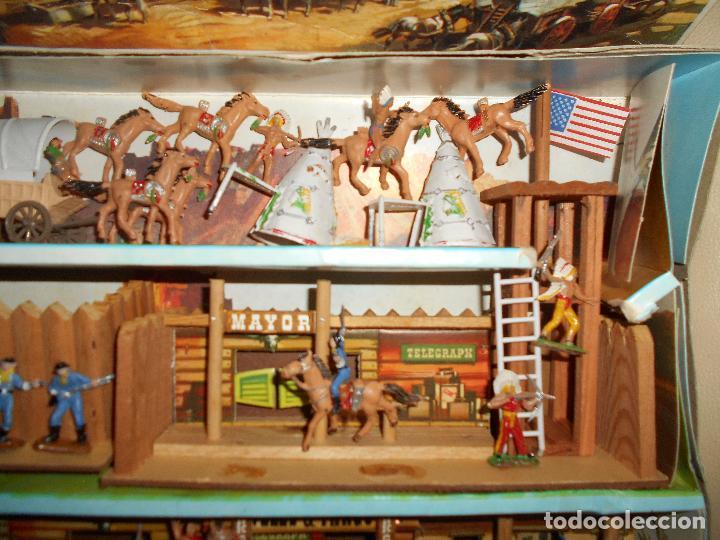 Figuras de Goma y PVC: ESPECTACULAR CAJA MINIOESTE COMANSI TODO EL OESTE AMERICANO AÑO 60 70 CON EXTRAS CASI PERFECTO !!! - Foto 5 - 95158543