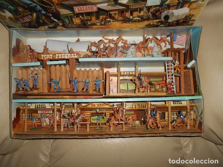 Figuras de Goma y PVC: ESPECTACULAR CAJA MINIOESTE COMANSI TODO EL OESTE AMERICANO AÑO 60 70 CON EXTRAS CASI PERFECTO !!! - Foto 8 - 95158543