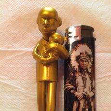 Figuras de Goma y PVC: MONTGOMERY BURMS DORADO LOS SIMPSONS FOX 2007. Lote 95201956