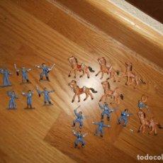 Figuras de Borracha e PVC: MINI OESTE COMANSI LOTE DE 21 FIGURAS SOLDADOS SEPTIMO CABALLERIA ORIGINAL AÑOS 60 RARO !!!!. Lote 95235447