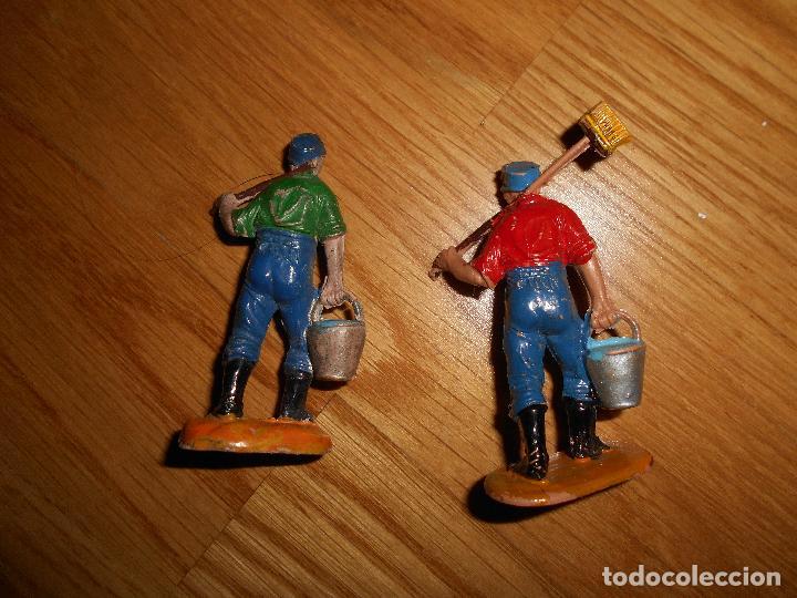 Figuras de Goma y PVC: 2 FIGURAS JECSAN CIRCO OPERARIOS LIMPIEZA FIERAS REALIZADAS EN GOMA Y PLASTICO RARAS !!! AÑOS 50 60 - Foto 2 - 95559930