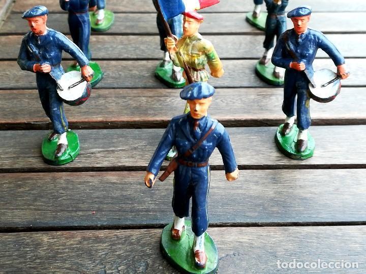 Figuras de Goma y PVC: 14 SOLDADOS FRANCESES, AÑOS 60,STRALUX, 4 DE MARINA,10 BANDA DE MUSICA,BANDERA Y OFICIAL,NO PLOMO - Foto 4 - 95243127