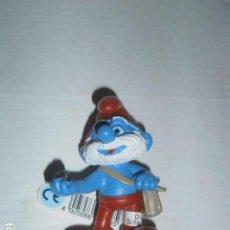 Figuras de Goma y PVC: FIGURA PVC PITUFO SCHLEICH PAPA PITUFO CON BOLSO NUEVO A ESTRENAR PRECINTADO. Lote 95426555