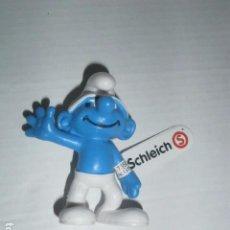 Figuras de Goma y PVC: FIGURA PVC PITUFO SALUDANDO SCHLEICH A ESTRENAR PRECINTADO. Lote 224070643
