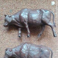 Figuras de Goma y PVC: ANTIGUAS FIGURAS DEL OESTE EN GOMA DE GAMA. PAREJA DE RESES. AÑOS 50.. Lote 95596468