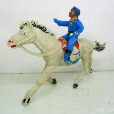 Figuras de Goma y PVC: 3. JECSAN CABO RUSTY A CABALLO SERIE RINTINTIN RIN TIN TIN 7º CABALLERIA CAVALRY YANKIE YANKY FIGURA. Lote 95727007