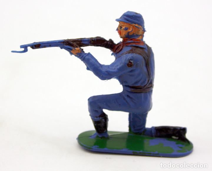 Figuras de Goma y PVC: ANTIGUA FIGURA SOLDADO FEDERAL - PECH - OESTE - CONFEDERADO - FEDERALES - Nº4 - Foto 2 - 95759599