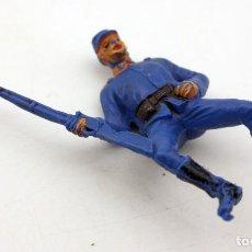 Figuras de Goma y PVC: ANTIGUA FIGURA SOLDADO FEDERAL PARA CABALLO - PECH - OESTE - CONFEDERADO - FEDERALES - Nº15. Lote 95761599