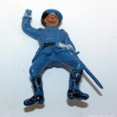 Figuras de Goma y PVC: ANTIGUA FIGURA SOLDADO FEDERAL PARA CABALLO - PECH - OESTE - CONFEDERADO - FEDERALES - Nº16. Lote 95761743