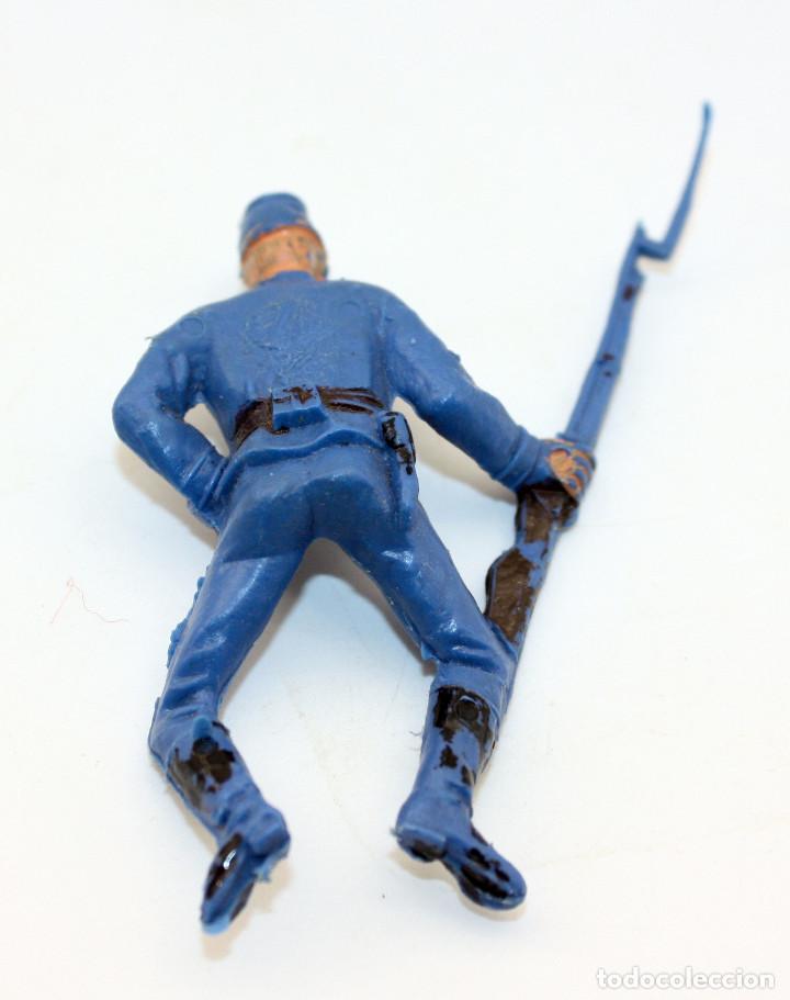 Figuras de Goma y PVC: ANTIGUA FIGURA SOLDADO FEDERAL PARA CABALLO - PECH - OESTE - CONFEDERADO - FEDERALES - Nº18 - Foto 2 - 95761875