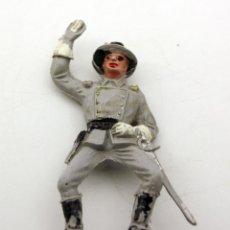 Figuras de Goma y PVC: ANTIGUA FIGURA SOLDADO CONFEDERADO PARA CABALLO - PECH - OESTE - FEDERAL - FEDERALES - Nº28. Lote 95763351