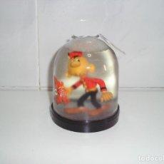 Figuras de Goma y PVC: ANTIGUA BOLA DE NIEVE SACARINO COMICS SPAIN - ARTICULO NUEVO. Lote 95774851